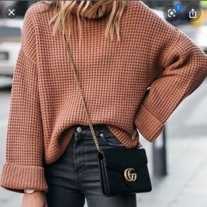 Free People Park City Pullover- Terracotta